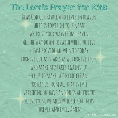 The Lord's Prayer for Kids