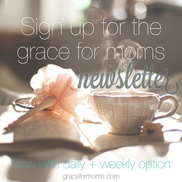 There's so much buzz going around right now about Facebook changes that are coming. It's already hard enough to reach our community with the message of grace and it may get even harder come January.  We want it to be easy to connect with you. We want you to be able to easily receive and #sharegrace so we've made some changes ourselves. Beginning in January you can receive the Grace for Moms email newsletter once a week {on Wednesdays} or with every post {3-4 times per week}. Sign up or make changes to your subscription via the link below so you don't miss a thing. {link in profile}