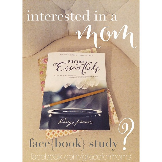 If you would be interested in joining a mom's face{book} study with other women in this community, would you let us know by commenting here? Gauging interest as we explore the possibility of meeting together on a private group page once a week to discuss books, starting with this great Bible Study, Mom Essentials.  #sharegrace #bookstudy #community