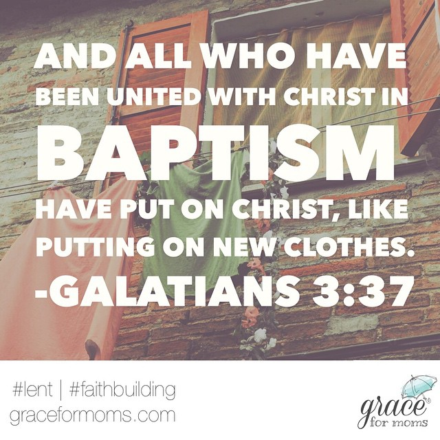 This week we're sharing Jesus' #baptism with our children + how they can do the same when they are ready to show they are a follower of Christ. Are you following our family #lent devotional? #faithbuilding #familyfaith