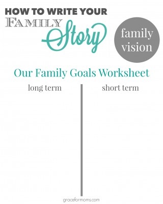 Family Goals Worksheet