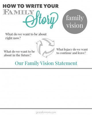 Family Vision Worksheet