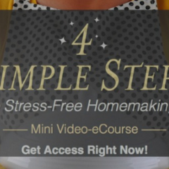 FREE Stress-Free Homemaking eCourse