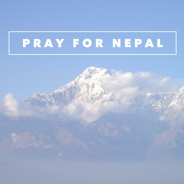 Join us in lifting up those affected by the earthquake in Nepal. #Nepal #jesusbenear